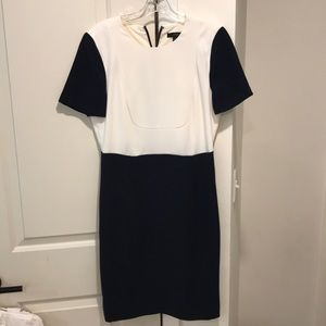 Jcrew dress, navy and cream, worn twice